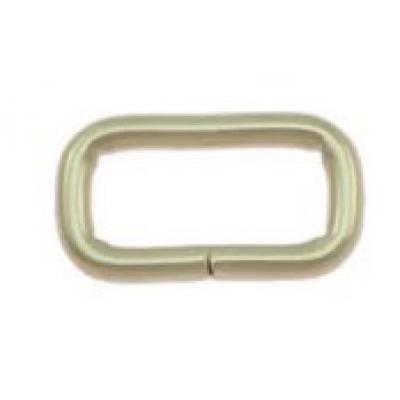 Loops 17/7 mm per 10 st zilverkleurig