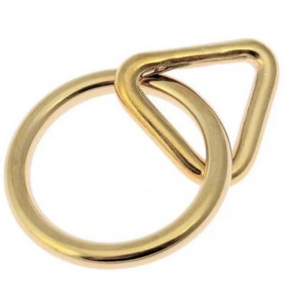 O ring met triangel messing 38 mm -25 mm