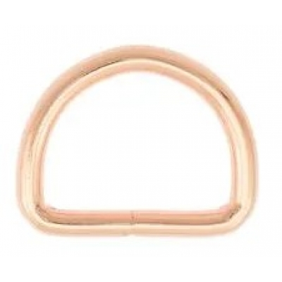 D-ring 25 mm rose gold