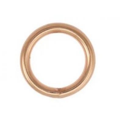 O ring 15 mm rose gold