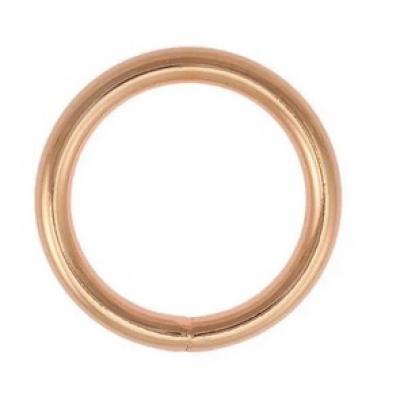 O ring 20 mm rose gold