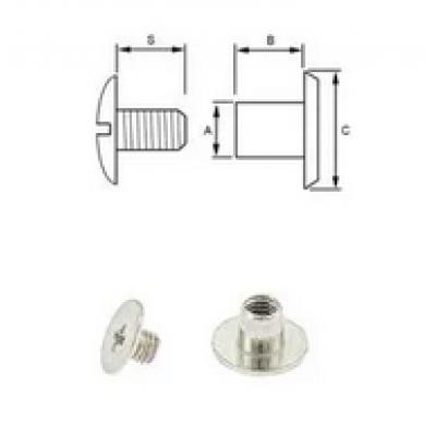 Boekschroef  3-4 mm per 10 stuks