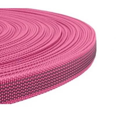 PPM band met rubber profiel 20 mm  neon roze
