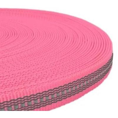 PPM band 20 mm met reflectie + rubber roze
