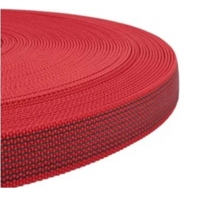 PPM band met rubber profiel 15 mm rood