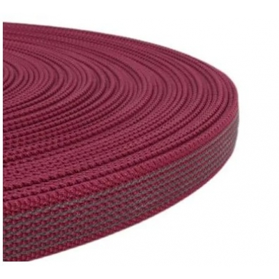 PPM band met rubber profiel  20 mm wijnrood