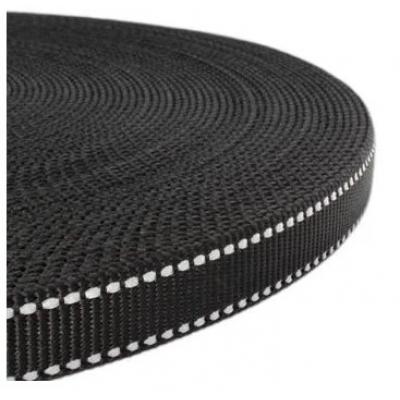 PPM band 20 mm met reflectie + rubber zwart
