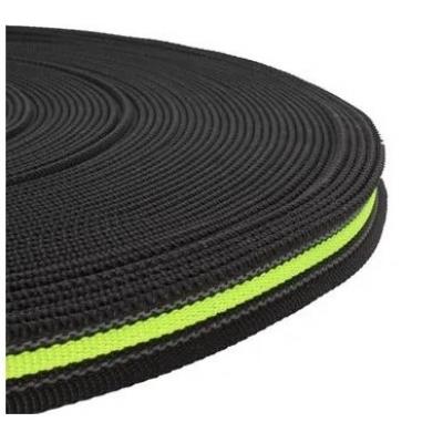 PPM band 20 mm zwart met fluor geel met rubber