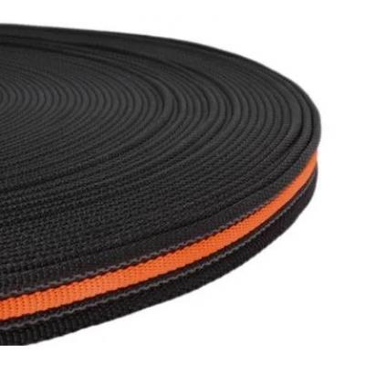 PPM band 20 mm zwart met fluor oranje+rubber