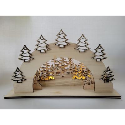 kerst light box kerstboompjes