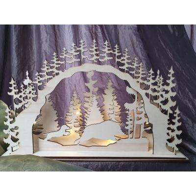 kerst light box teckel + varken