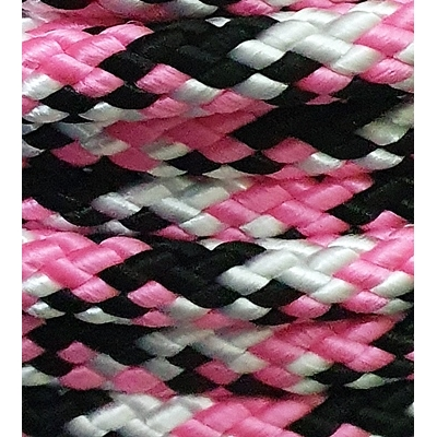 PPM touw 12 mm roze/zwart/wit