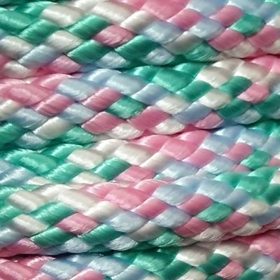 PPM touw 12 mm oud lichtzeegroen/babyroze/wit