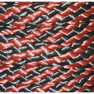 PPM touw 12 mm oud  donkerroodbruin/zwart