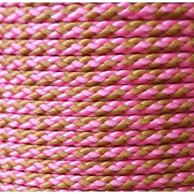 PPM touw 3 mm roze/camel