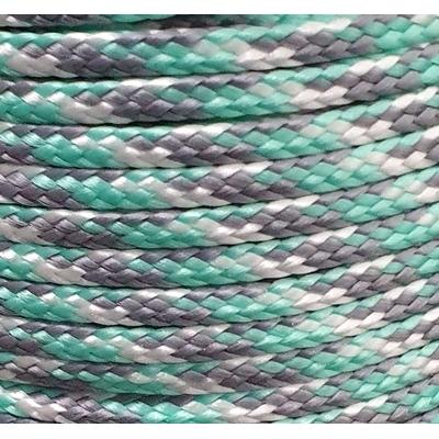 PPM touw  ongevuld 3,5 mm licht zeegroen/grijs/wit