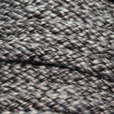 PPM touw 12 mm zwart/zilvergrijs melee
