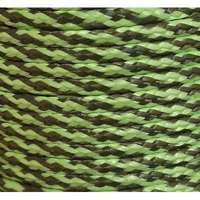 PPM touw 3,5 mm ongevuld lime/olijfgroen