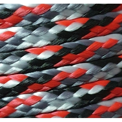 PPM touw 3,5 mm rood/zwart/grijs/wit