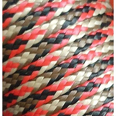 PPM touw 3,5 mm  rood/zwart/bruin/beige
