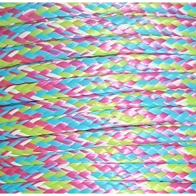 PPM touw 3,5 mm roze/turquoise/lime/ wit melee