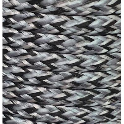 PPM touw 3,5 mm zwart/zilvergrijs melee
