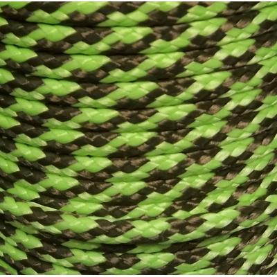 PPM touw 6 mm ongevuld lime/olijfgroen