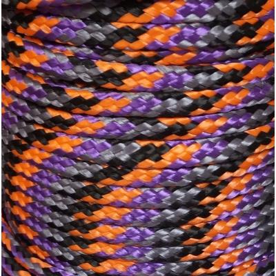 PPM touw 6 mm ongevuld paars/oranje/zwart/grijs