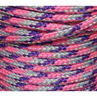 PPM touw 6 mm ongevuld paars/zilvergrijs/roze