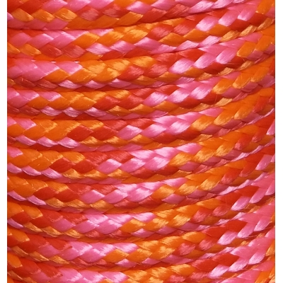 PPM touw 6 mm roze/rood/oranje ongevuld