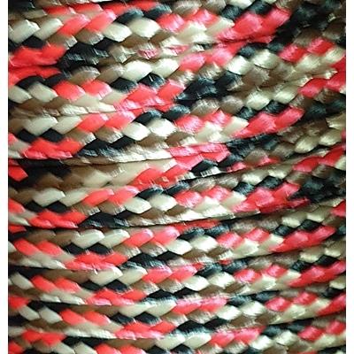 PPM touw 6 mm ongevuld zwart/beige/rood/bruin