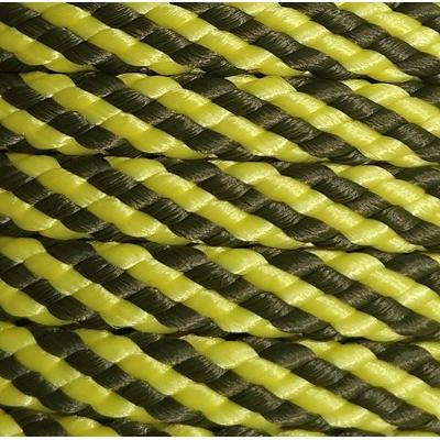 PPM touw 8 mm geel/olijfgroen streep