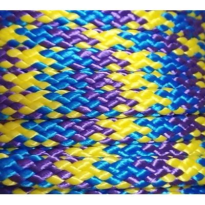 PPM touw 8 mm geel/paars/vlaggenblauw