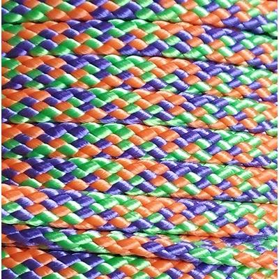 PPM touw 8 mm oranje/appelgroen/paars