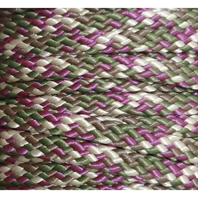 PPM touw 8 mm aubergine/olijfgroen/beige/bruin