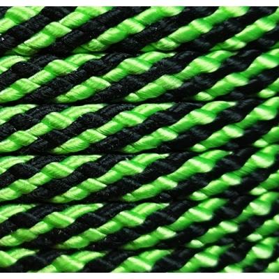 PPM touw 8 mm appelgroen/zwart streep