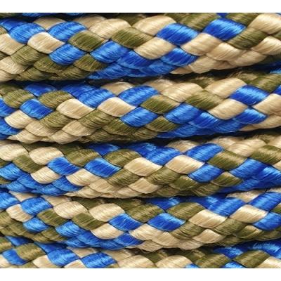 PPM touw 12 mm blauw/beige/olijfgroen