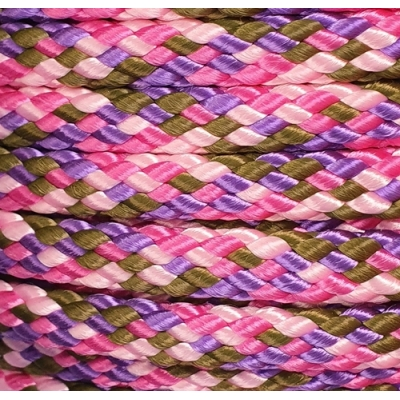 PPM touw 8 mm paars/oudroze/babyroze/olijfgroen