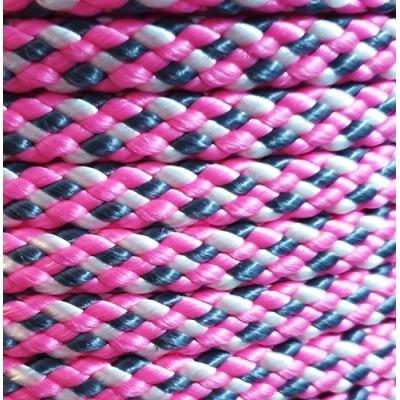 PPM touw 8 mm  roze/wit/grijs