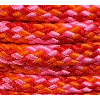 PPM touw 12 mm roze/oranje/rood