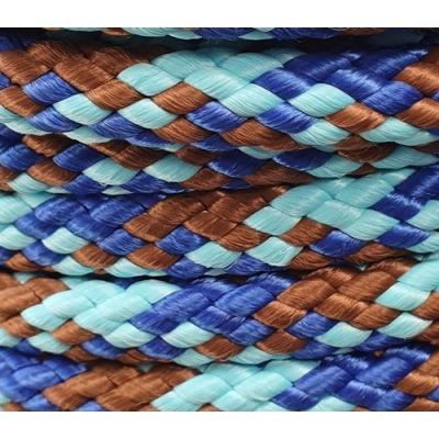 PPM touw 12 mm vlaggenblauw/turquoise/bruin
